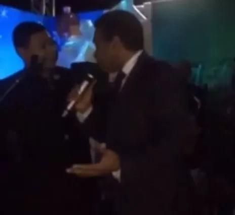 Felix Bautista celebrando
