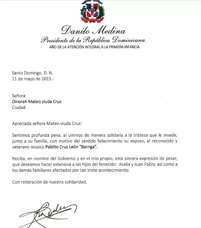 Carta de Danilo