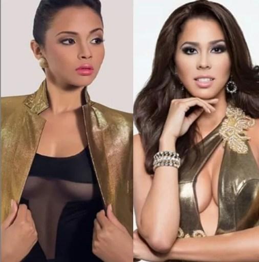 Katherine Banco Miss Santo Dgo. Norte y Massiel Peguero Miss Comunidad Dominicana en EEUU.