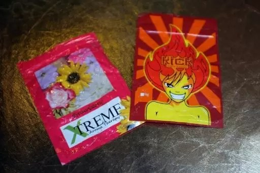 Paquetes de K2 o Spice, cannabis sintético, en Nueva York, el 5 de agosto de 2015 (GETTY IMAGES NORTH AMERICA/AFP   Spencer Platt)