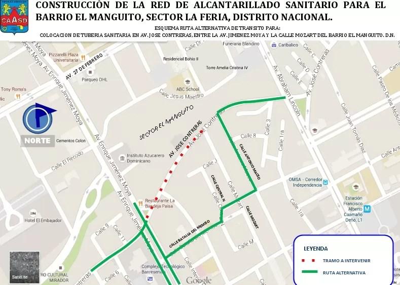 La CAASD anuncia cierre tramo de la avenida José Contreras