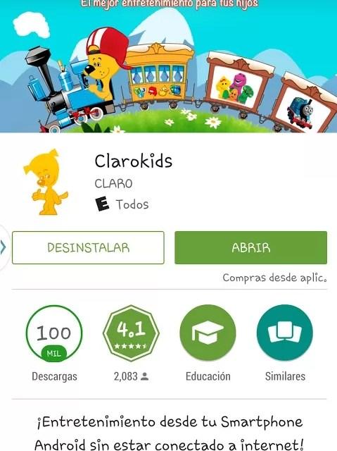 ClaroKids, entretenimiento digital para niños