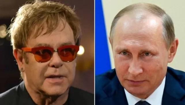 Elton John sigue queriendo hablar sobre derechos de gays con Putin