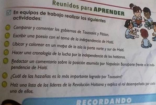 Vinincio Castillo quiere que Educación retire este libro
