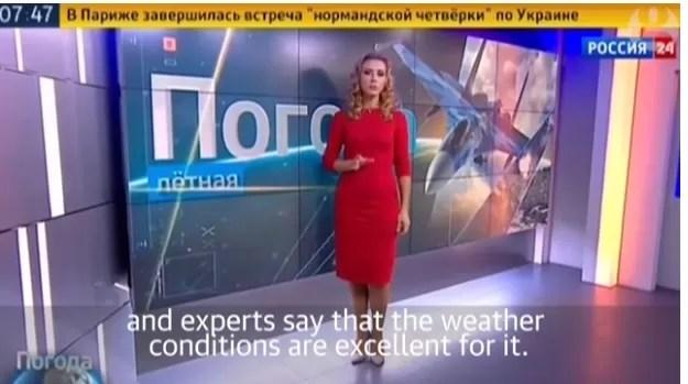 Televisión rusa destaca buenas condiciones meteorológicas para bombardeos en Siria