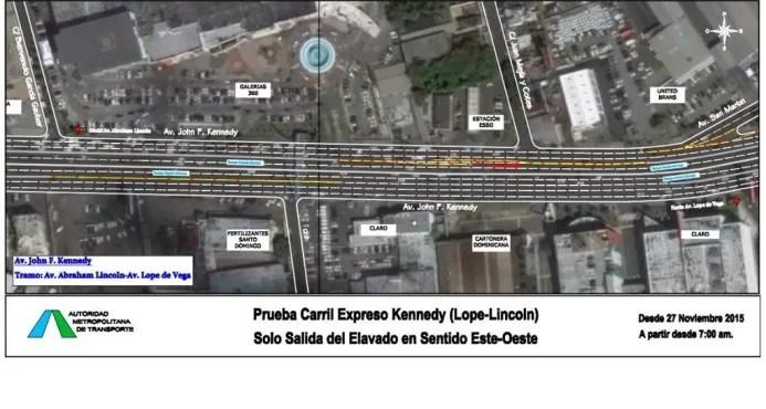 Este viernes AMET no permitirá que vehículos suban al elevado entre Lope de Vega y Lincoln