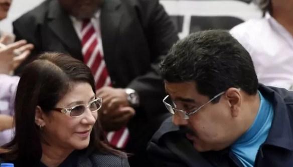 Maduro y su esposa
