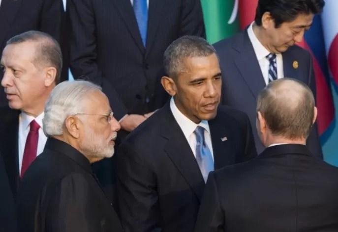 Apretón de manos entre Obama y Putin en la cumbre del G20