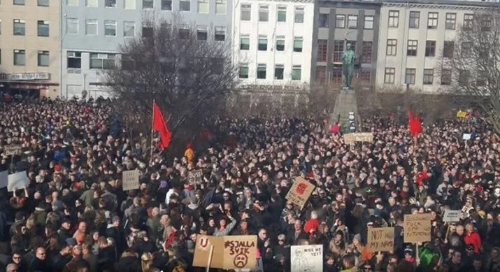 protesta islandia