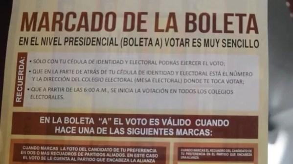 Boleta electoral 2016
