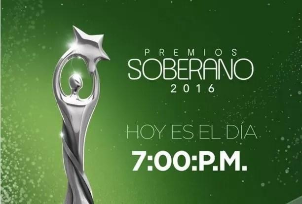 Transmisión en vivo de Premios Soberano 2016