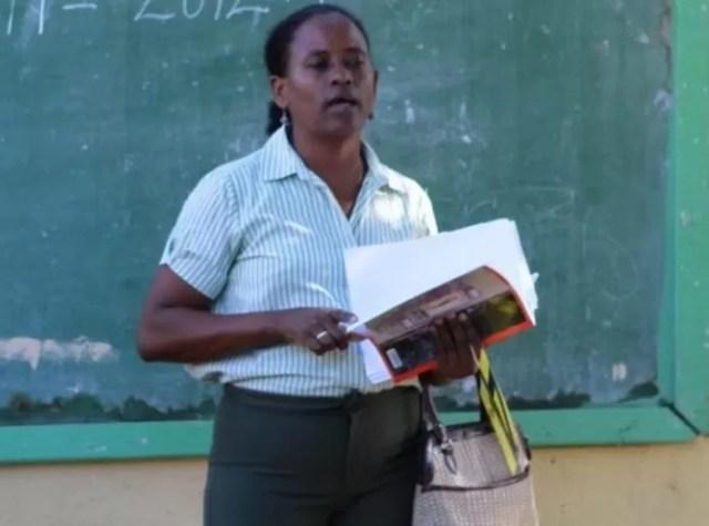 Profesora dominicana