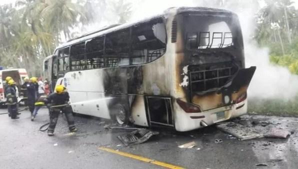 Autobus quemado