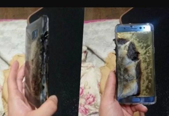 Galaxy Note quemado