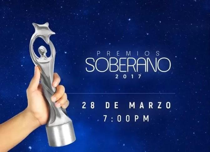 Transmisión en vivo Premios Soberano 2017