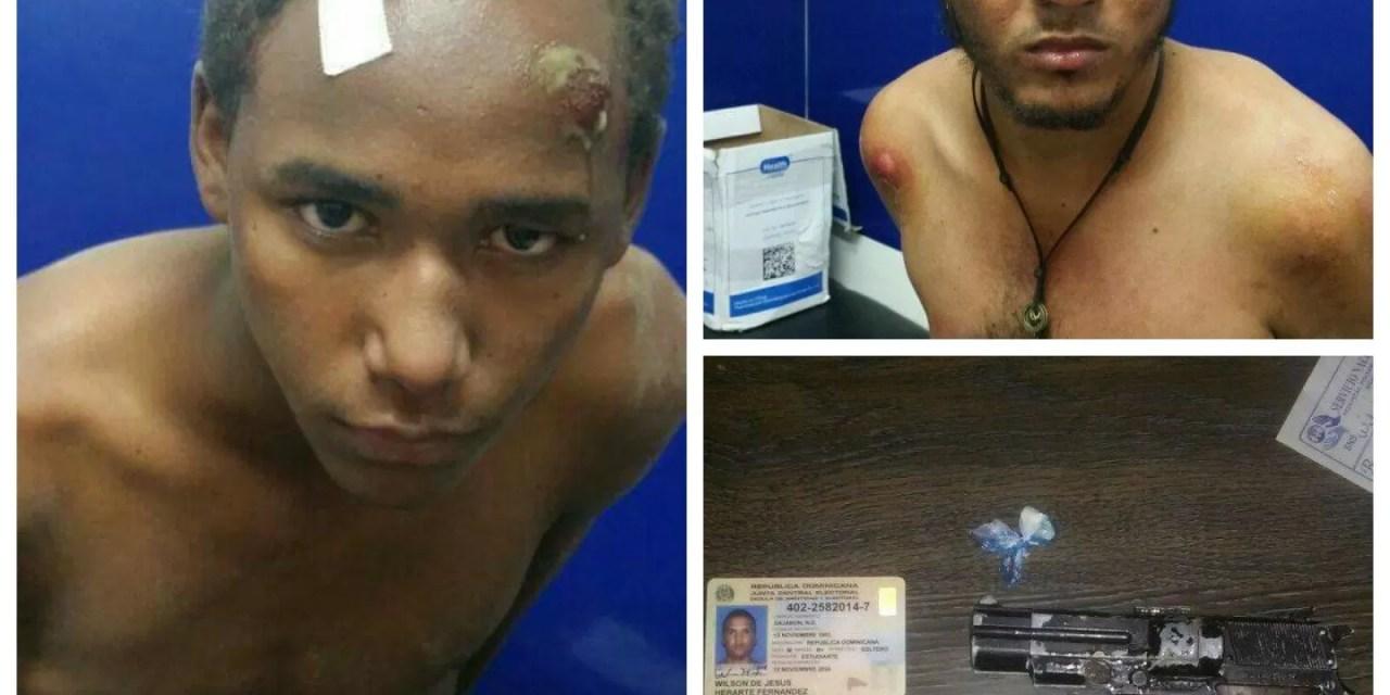 La policía atrapa dos pillos roba banca