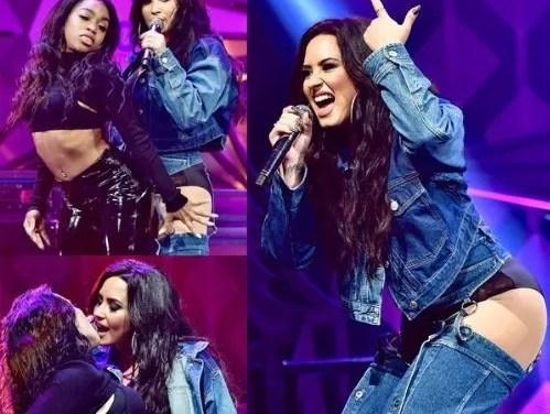 Miren bien- El look de Demi Lovato durante un concierto