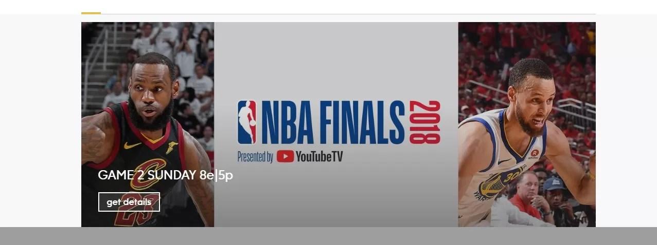 Transmisión en vivo finales de la NBA 2018