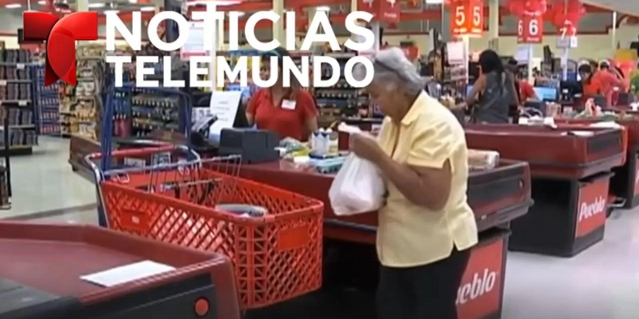Isaac pone a muchos en Puerto Rico a comprar agua por montones
