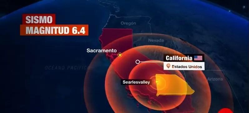 Sismo de 6,4  que sacudió  sur de California, el más fuerte en 20 años