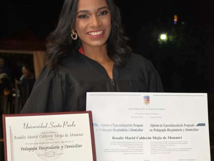 Rosaliz Calderón la primera dominicana en obtener el título en pedagogía hospitalaria en Costa Rica