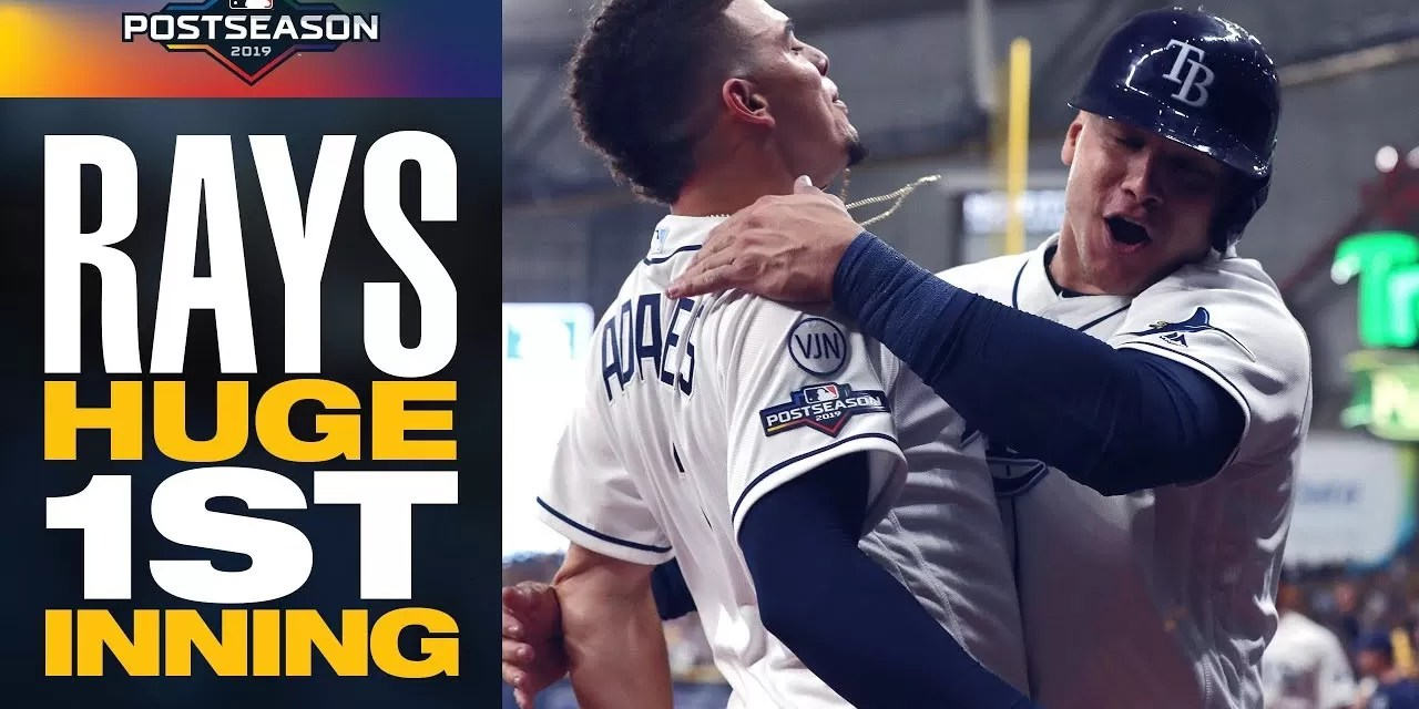 Rays sorprenden a Astros y emparejan su Serie Divisional a dos triunfos por bando