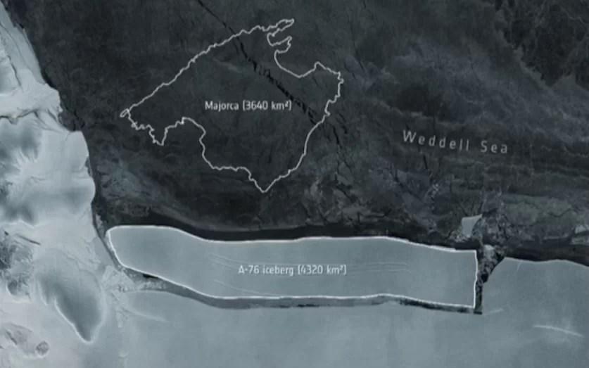El iceberg más grande del mundo se separó de la Antártida