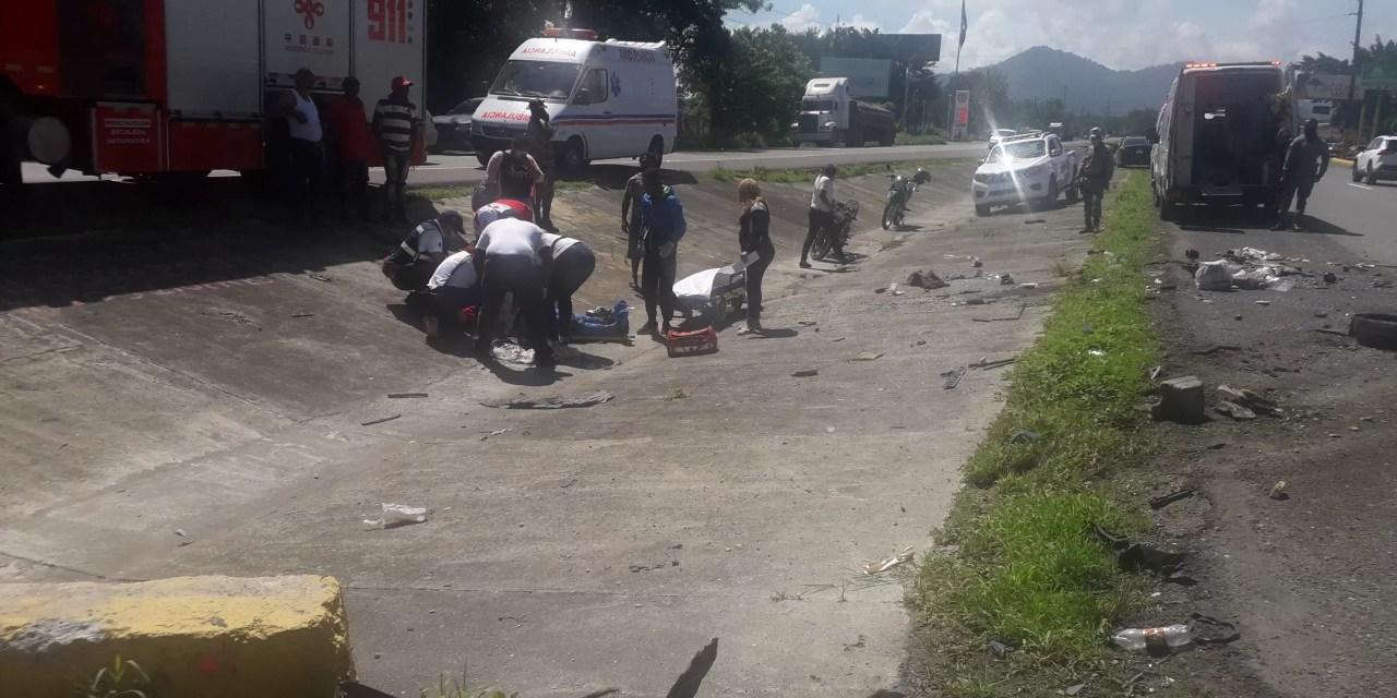Fotos – Fuerte accidente frente a Jacaranda