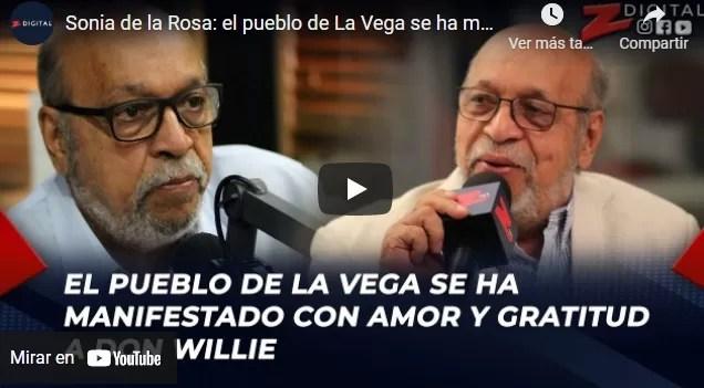 El pueblo de La Vega se ha manifestado con amor y gratitud a don Willie