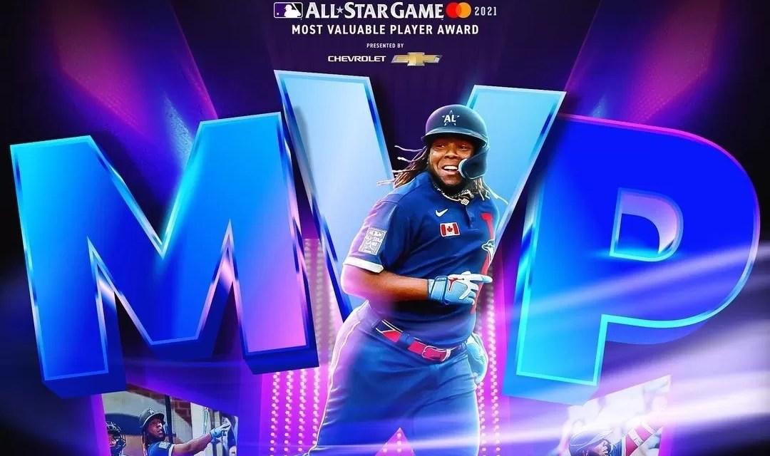 MLB :Vladimir Guerrero Jr. jugador más valioso en el juego de Estrellas