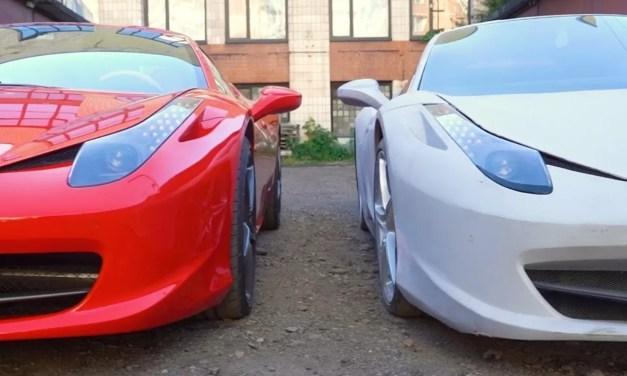 Video – ¿En cuánto se diferencia un Ferrari 458 real de una réplica?