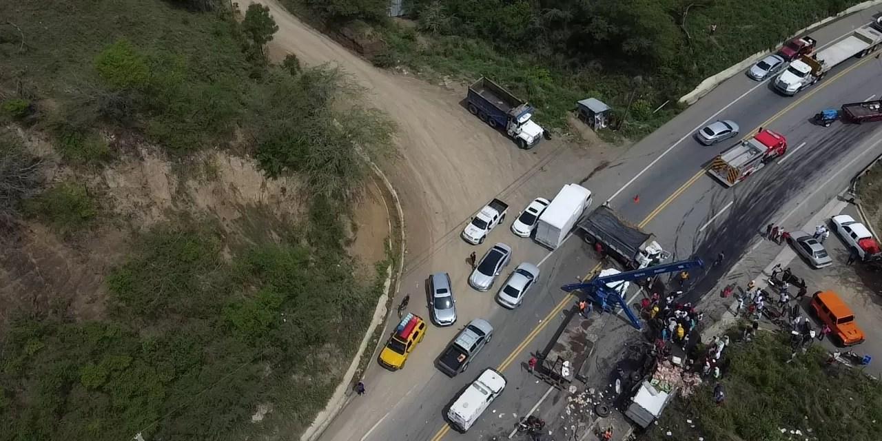 Más sobre el accidente a la salida del túnel de Puerto Plata