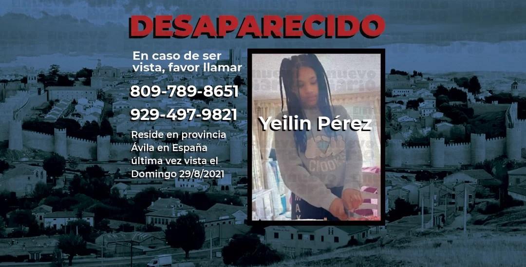 Adolescente dominicana está desaparecida en España