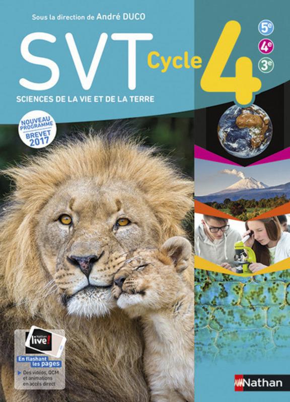 Livre Scolaire Svt Cycle 4 : livre, scolaire, cycle, Cycle, Livre, L'élève, 9782091712529, Éditions, Nathan