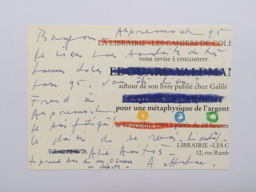 Correspondance verso - 1995 pastels (14,6 x 10,5 cm)