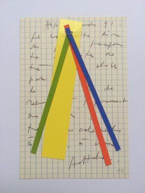 Correspondance - 1991 papiers découpés (14,6 x 10,5 cm)