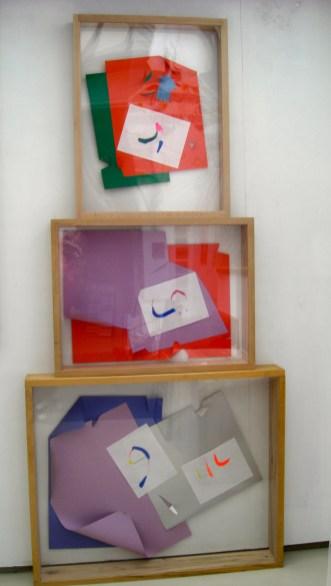 3 caractères arabes et origami - 2000