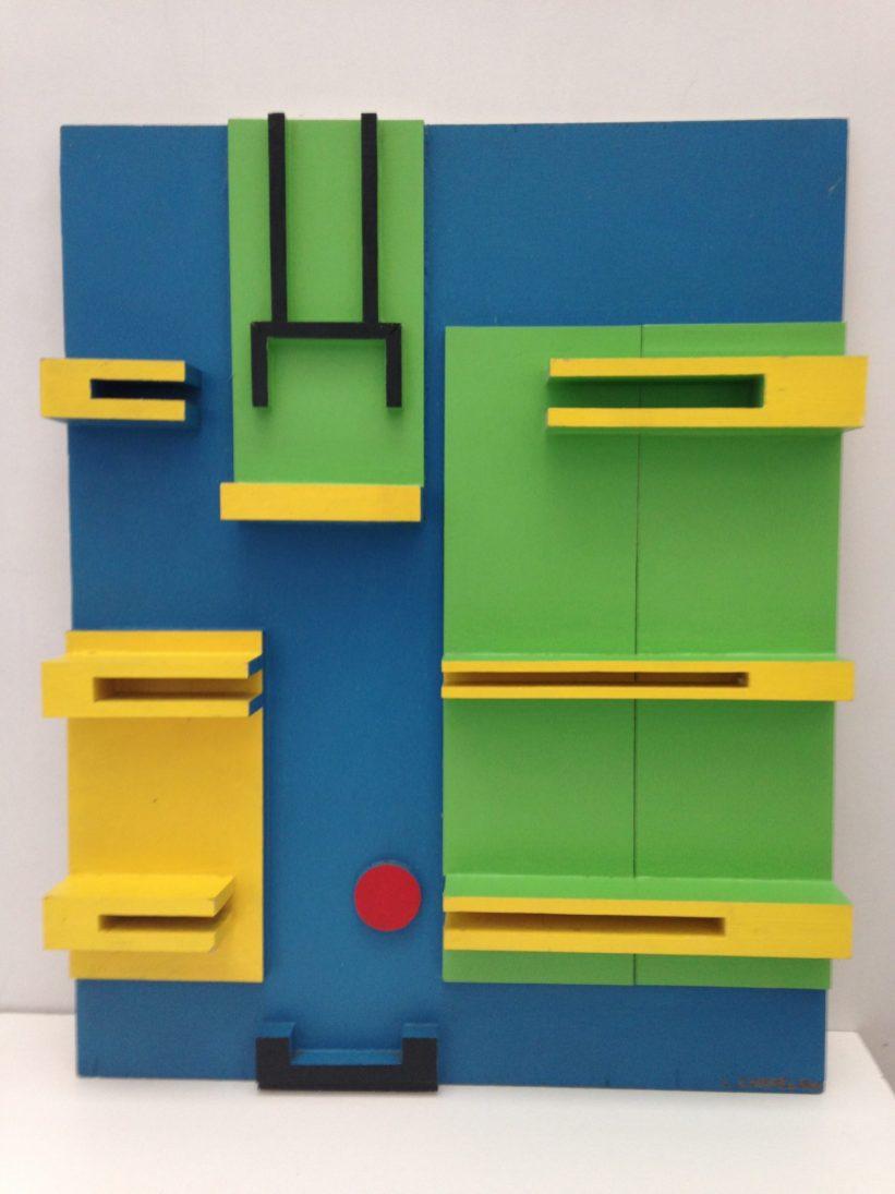 Panneau polychrome - 1978 technique mixte (50 x 40 x 5 cm)