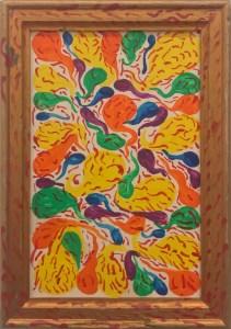 """Henri Ughetto, """" 50 gouttes de couleurs et 500 gouttes de sang """", 1985."""