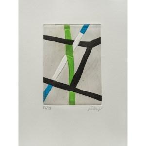 Bertrand Dorny, gravure  numérotée et signée par l'artiste. Tirage à 120 exemplaires numérotés sur papier vélin d'Arches. [Paris : Espace Latino-Américain, 1985]. Photographie : Véronique Huyghe