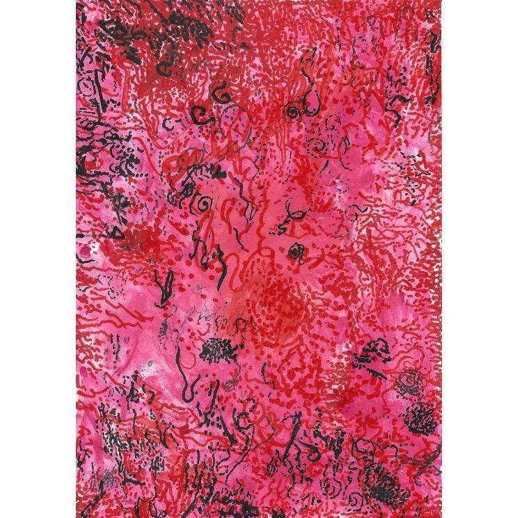 Henri Ughetto, Sans titre, d'une série de 10 dessins sur papier, 2009-2010. Photo: Enseigne des Oudin.