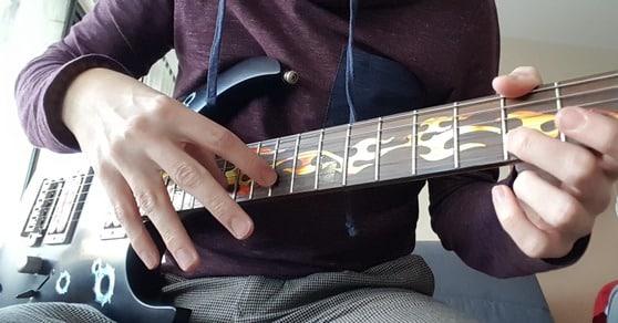 """Exemple d'une harmonique naturelle décalée pour l'article """"Les Harmoniques Naturelles & Artificielles"""""""