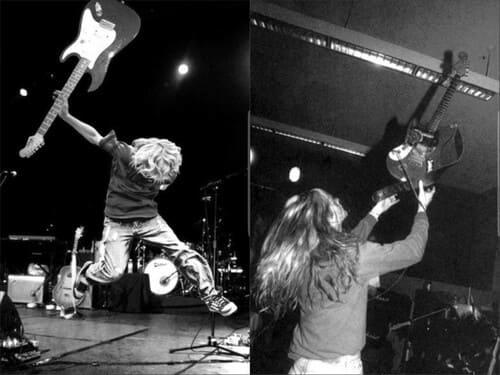 """Kurt Cobain sur scène pour l'article """"Dépasser Ses Limites"""""""