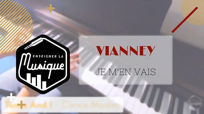 """Image de lien YouTube pour Je M'en Vais de Vianney pour l'article """"Le Mode mineur : Partie 1 : La gamme mineure naturelle"""""""