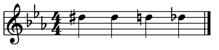 """Changement d'altération du Ré sur une mesure pour l'article """"Les Altérations En Musique"""""""