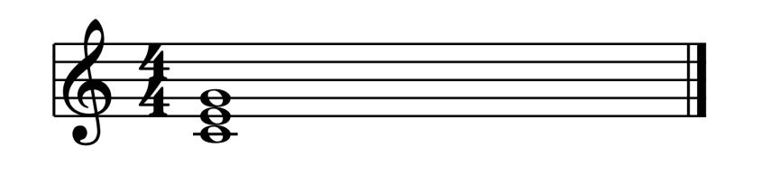 """Accord de Do Majeur à l'Etat Fondamental pour l'article """"Les Cadences En Musique"""""""