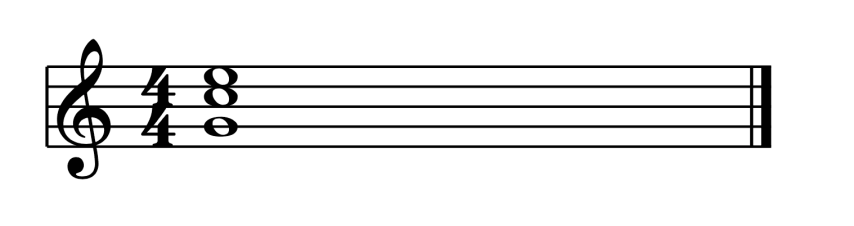 """Accord de Do Majeur au 2nd Renversement pour l'article """"Les Cadences En Musique"""""""