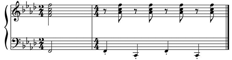 """Exemple d'une basse alternée pour l'article """"Arpège Piano"""""""