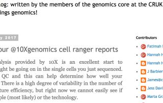 A blog post describing basic QC of 10X scRNA-Seq experiments