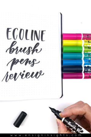 Ecoline Brush Pens Review (Compared to Karin Markers)